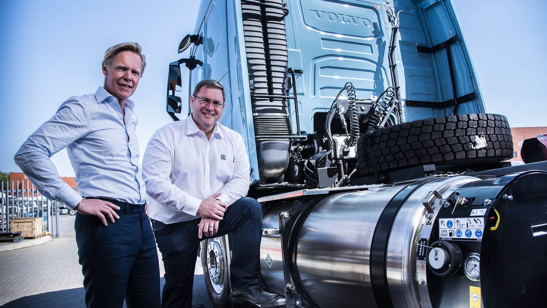 Marcus Hörberg and Eric Parry at the Volvo FH LNG