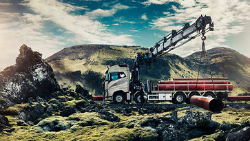 A Volvo FH in Icelandic landscape