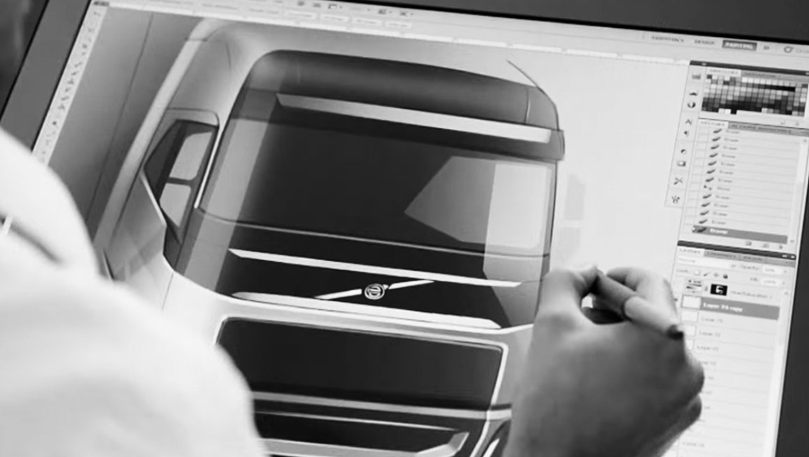 Video about the design of the Volvo FH cab