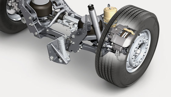 Individual Front Suspension and Volvo Dynamic Steering combine to give outstanding stability, control and manoeuvrability