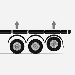 Multiple steered axles reduce the turning radius