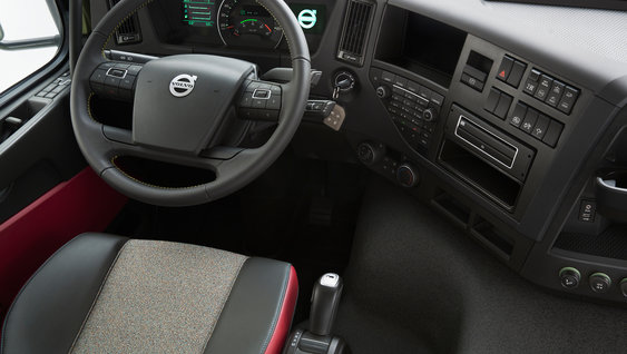 An ergonomically-designed steering wheel