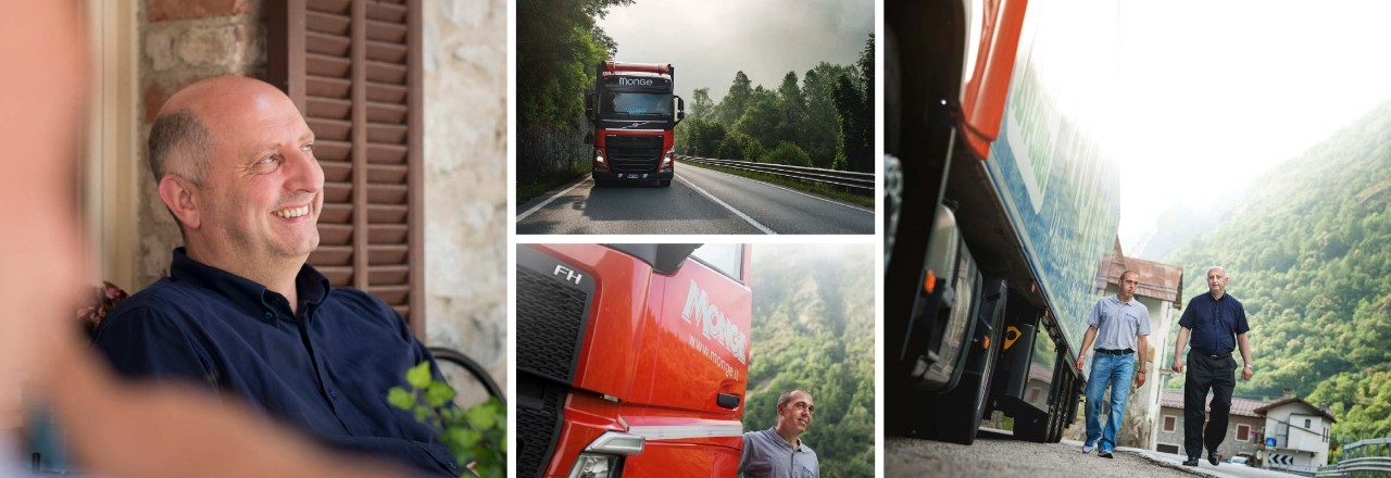 Customer Domenico Monge prefers Volvo trucks for the quality and performance.